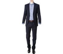 Anzug, Modern Fit, Schurwolle, marine