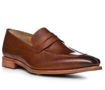 Schuhe Loafer, Leder, cuoio