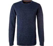 Pullover, Baumwolle, indigo meliert