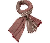 Schal, Baumwolle, -grau gestreift