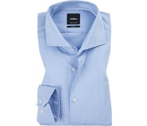 Hemd, Slim Fit, Baumwolle, bleu