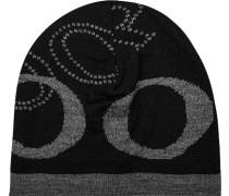 Mütze, Schurwolle, schwarz-