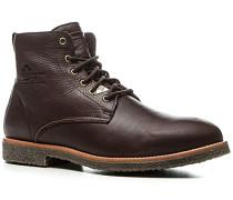 Schuhe Schnürboots, Leder warmgefüttert