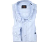 Hemd, Oxford, bleu gestreift