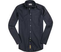 Hemd, Regular-Fit, Baumwolle, nachtblau