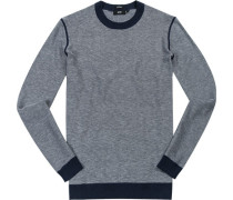 Pullover, Regular Fit , Baumwoll-Schurwolle