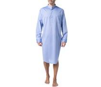 Nachthemd, Baumwolle, hellblau meliert