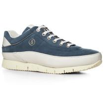 Sneaker, Veloursleder, jeansblau