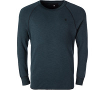 Pullover Sweater, Baumwolle, pertrol