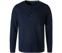 Pullover, Baumwolle-Leinen, marine