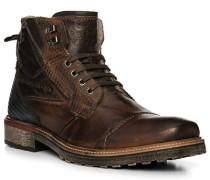 Schuhe Boots, Leder, dunelbraun-dunkelblau