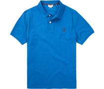 Polo-Shirt Polo, Baumwoll-Piqué, azurblau