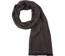 Schal, Wolle, schwarz- gemustert