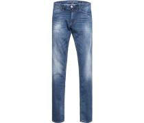 Blue-Jeans, Slim Fit, Baumwolle