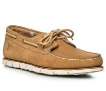 Bootsschuhe, Leder, natur