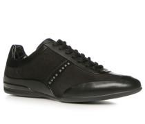 Schuhe Sneaker, Leder-Textil-Mix