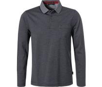 Pullover Polo, Baumwolle, dunkelblau-weiß