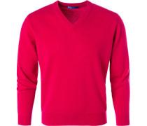 Pullover, Kaschmir, kirschrot