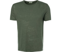 T-Shirt, Leinen, khaki