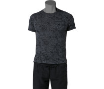 T-Shirt, Baumwolle, -schwarz gemustert