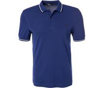 Polo-Shirt Polo, Baumwoll-Piqué, royal