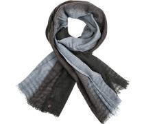 Schal, Wolle, -grau gestreift