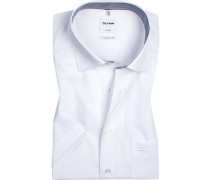 Hemd, Comfort Fit, Popeline, weiß