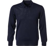 Polo-Shirt Polo, Schurwolle, navy