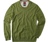 Pullover, Baumwolle, oliv