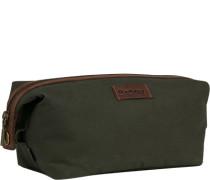 Tasche Beauty-Case, Baumwolle, dunkelgrün