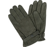 Handschuhe, Nubukleder, olivgrün