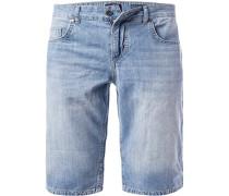 Jeans-Bermudas, Baumwolle, hellblau