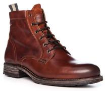 Schuhe Schnürboots, Rindleder, cognac
