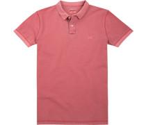 Polo-Shirt Polo, Baumwoll-Piqué, hellrot