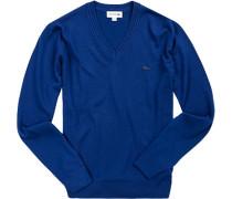Pullover, Schurwolle, saphirblau
