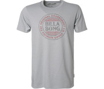 T-Shirt, Tailored Fit, Baumwolle, graublau