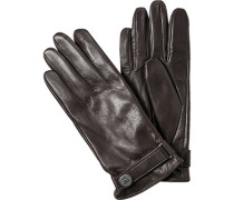 Handschuhe, Leder, mittelbraun