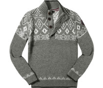 Pullover Troyer, Wolle, gemustert