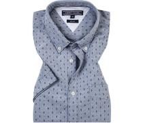 Kurzarm-Hemd, Slim Fit, Oxford