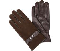 Handschuhe, Lamm-Ziegenleder, schokobraun