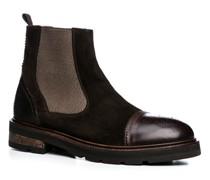 Schuhe Chelsea Boots, Velours-Glattleder