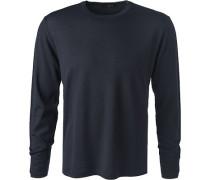 Pullover, Schurwolle, nachtblau