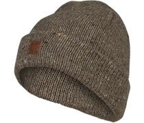 Mütze, Wolle, khaki meliert