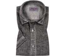 Kurzarm-Hemd, Modern Fit, Leinen