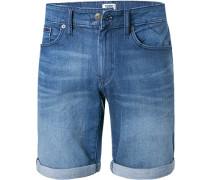 Jeansshorts, Baumwoll-Stretch