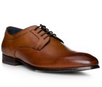 Schuhe Derby, Rindleder, cognac