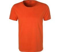 T-Shirt, Baumwolle, rotorange