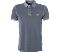 Polo-Shirt Polo, Baumwoll-Pique, graublau