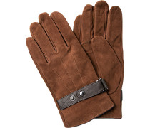 JOOP, Handschuhe, Veloursleder, mittelbraun