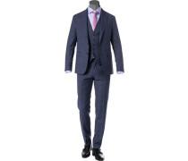 Anzug mit Weste, Schurwolle Super100